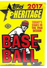 2017 TOPPS HERITAGE COMMON SET (1-400) & HN SET (510-700) & MINOR (1-200) NO SP