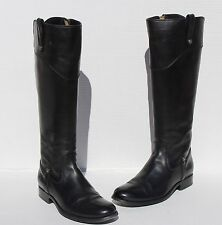 Frye Melissa Tab Tall  Black Leather Riding Boots Size 7 B