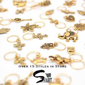 Premium Qauilty Gold Hair Charms Braid Ring Jewelry Trending Women Accessories