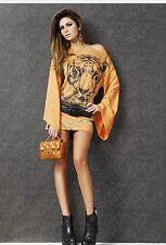DENNY ROSE MINIABITO abito vestito maglia art.6060 introvabile ARANCIO o CELESTE