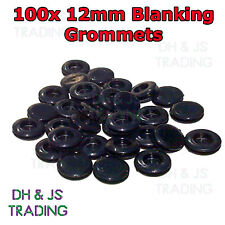 100 x 12mm Blanking Grommets Electrical Closed Wiring Rubber Blind Bungs Grommet