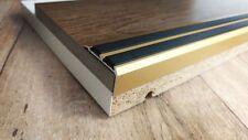 100cm - 35x19mm Treppenprofil Trittschutz + Gummi Einlage Gold eloxiert