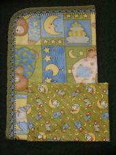 Crib Blanket/Cotton Crib Sheet - Bedtime Bear Patches/ Debbie Mumm Print