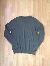 Joseph Mens Olive Green 100% Cashmere V Neck Jumper/Sweater-Size Small,RRP £300+
