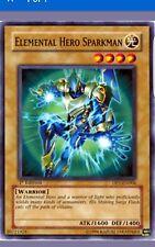 YUGI-OH ELEMENTAL HERO SPARKMAN COMMON PLAYED