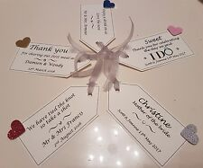12x Personalised Wedding Thank you Favour Tags, Groom, Hen party Gift Tags