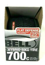 Bell 700c Hybrid Bike Tire Black 700c x 38c Flat Defense Replaces 32mm-45 mm