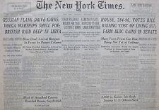 9-1942 WWII September 24 RUSSIAN FLANK DRIVE GAINS; VOLGA WARSHIPS SHELL FOE