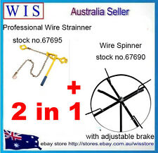 2 in 1 Professional Tool Set,Wire Strainer and Wire Spinner w Adjustable Brake