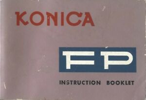 Konica FP Instruction Manual Original