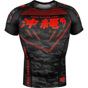 Venum Okinawa 2.0 Short Sleeve Compression Rashguard - Black/Red