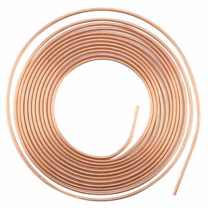 "UK 3/16"" 25FT COPPER PLATING BRAKE PIPE HOSE ROLL LINE TUBE PIPING JOINT UNION"