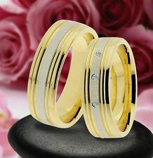 2 Trauring Eheringe Verlobungsringe  , GOLD PLATIERT * J225-3
