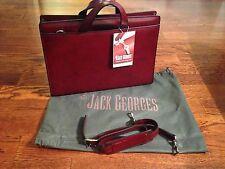 Jack Georges Handmade Originals Cherry Leather Briefcase