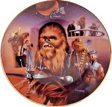Vintage Star Wars Heroes & Villains Ceramic Collector Plate- Chewbacca Montage