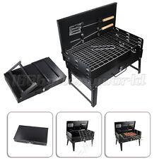 Black Bbq Barbecue Grill Folding Light Portable Charcoal Travel Picnic Tools