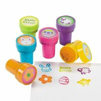Pack of 6 - Plastic Easter Stampers - Great Stocking Party Loot Bag Fillers