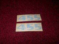 1976 PONTIAC FIREBIRD TRANS-AM TRANS AM 455 HOOD SCOOP DECALS SET PAIR BLUE