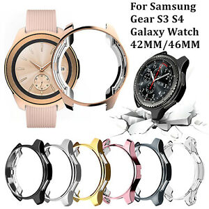 Case Cover For Samsung Galaxy Watch 42  46mm  + Tempered Glass Screen Protector