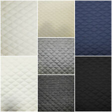 7 COLOURS Stretch Quilting Fabric Material Polyester 150cm wide Diamond Quilted