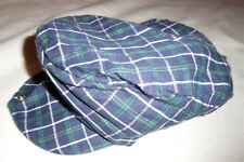 SAN DIEGO HAT CO. Navy Blue Green White Plaid Cabbie Beret Hat Cap BOYS 2T to 4T