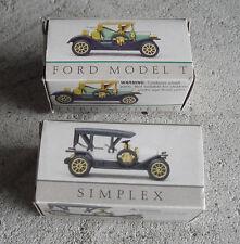 Lot of 2 Small Diecast Plastic Cars Ford Model T and Simplex NIB LOOK