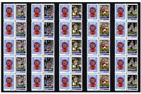 NORTH MELBOURNE SET OF 5 150th FOOTBALL STRIPS OF 10 MINT VIGNETTE STAMPS