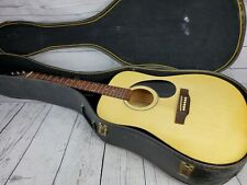 Hondo H-115N 6 String Natural Acoustic Guitar with Case