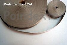 "1 1/2 Inch Nylon Poly Webbing """"ROLL END SALE"""", Coyote Tan, 13 feet, USA, New"
