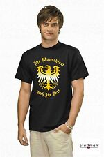 Prusia Adler t-shirt con su deseo de texto nuevo, s -- 3xl