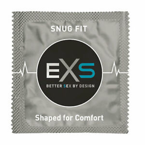 EXS Snug Fit Small Size Condoms Close Fitting Latex, Delay Ejaculation UK Made