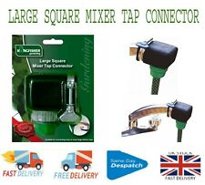 More details for large square mixer tap connector garden hose pipe connector adapter