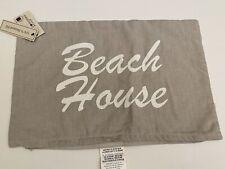 Beach House Throw Pillow Cover Cushion 12 x 18 Seaside Decor