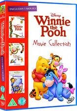 DVD:WINNIE THE POOH - THE MOVIE / TIGGER MOVIE / HEFFALUMP  - NEW Region 2 UK