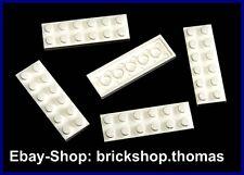 Lego 5 x Platte (2 x 6) Platten - 3795 weiß - White Plate - NEU / NEW
