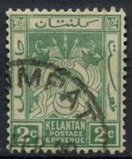 Kelantan 1921-8 SG#16, 2c Green Used #D9945