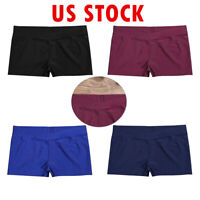 Kids Girl Dance Boy-Cut Shorts Ballet Gymnastics Gym Workout Stretch Short Pants