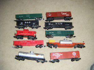 Large Lot of American Flyer Train Cars Lot 3 Track Cleaner Box Car Tanker
