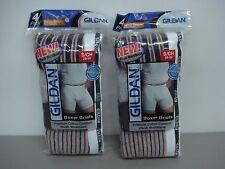 NWT Men's 8 Gildan Premium Cotton Boxer Briefs Underwear Multi Size Small #442J