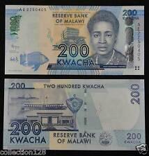Malawi Paper Money 200 Kwacha 2012 UNC