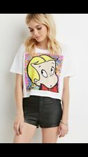Forever21 Richie Rich Loose Fit Crop Shirt S