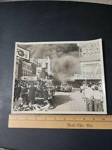 1954 Atlantic City NJ Boardwalk Fire Department Photograph Planters Peanut Shop