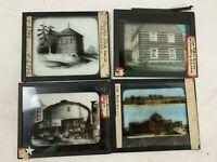 Vintage Magic Lantern Glass Slides Photo Farm Landscape Color Lot of 4  PA 284