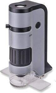 Carson MicroFlip 100-250x LED Lighted Pocket Microscope no Smartphone Adapter