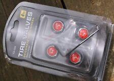 LOCKABLE Red devil CAR DUST/VALVE CAPS lock bike theft van bike tyre metal