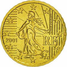 [#462800] Coin, France, 10 Euro Cent, 2001, MS(65-70), Brass, KM:1285