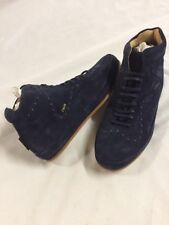 Freeman Plat COURT MID Men's Leather Boot  SNEAKERS Shoes Size 15NavyEUR 48
