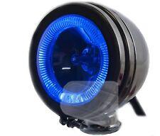"6"" car chrome spot lamp lights angel eye halogen BLUE 12v spotlights fog 4X4 van"
