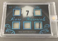 2017 Mickey Mantle 2/3 Leaf Pearl Rare Materials Game Used Memorabilia Yankees