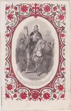 RARE IMAGE PIEUSE-HOLY CARD SANTINI-ST  JEAN EVEQUE-Cheval indompté-Imp.DOPTER